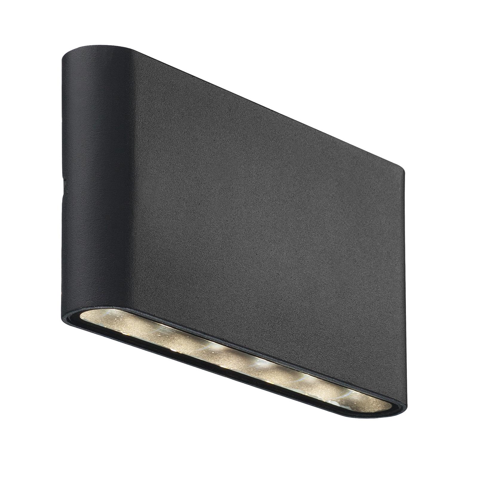 LED buitenwandlamp Kinver vlakke vorm, zwart
