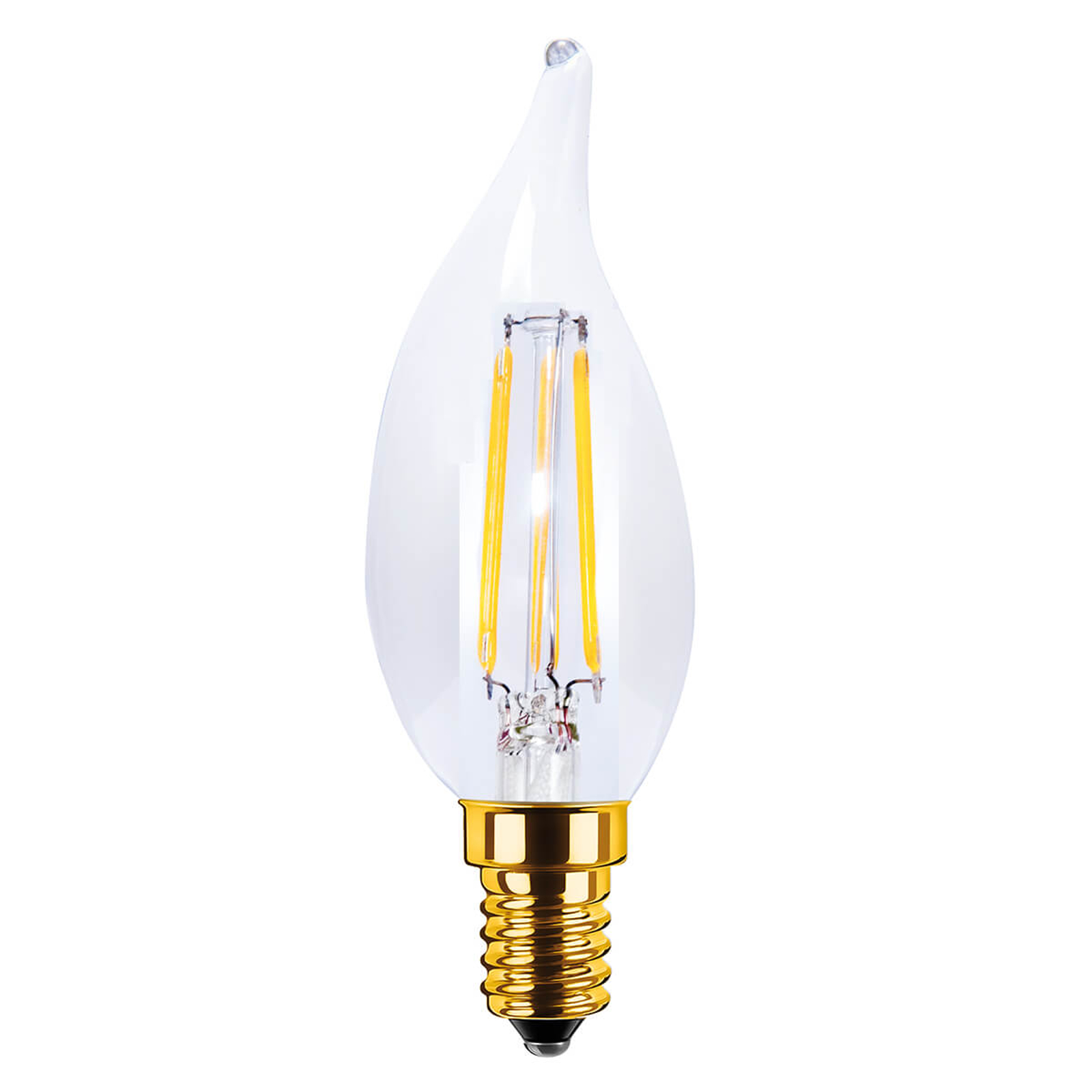 E14 3,5W 922 LED Windstoß-Kerzenlampe Vintage klar