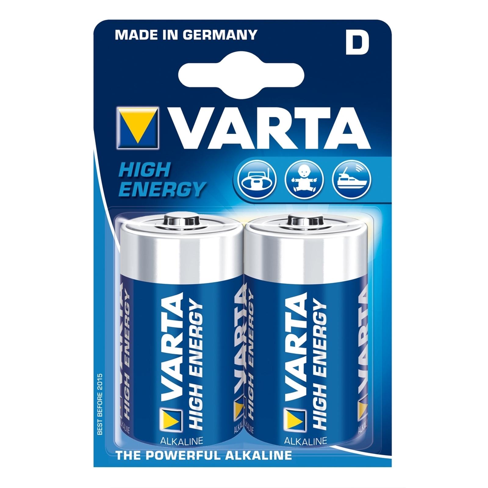Mono D High Energy Batterien im 2-er Blister