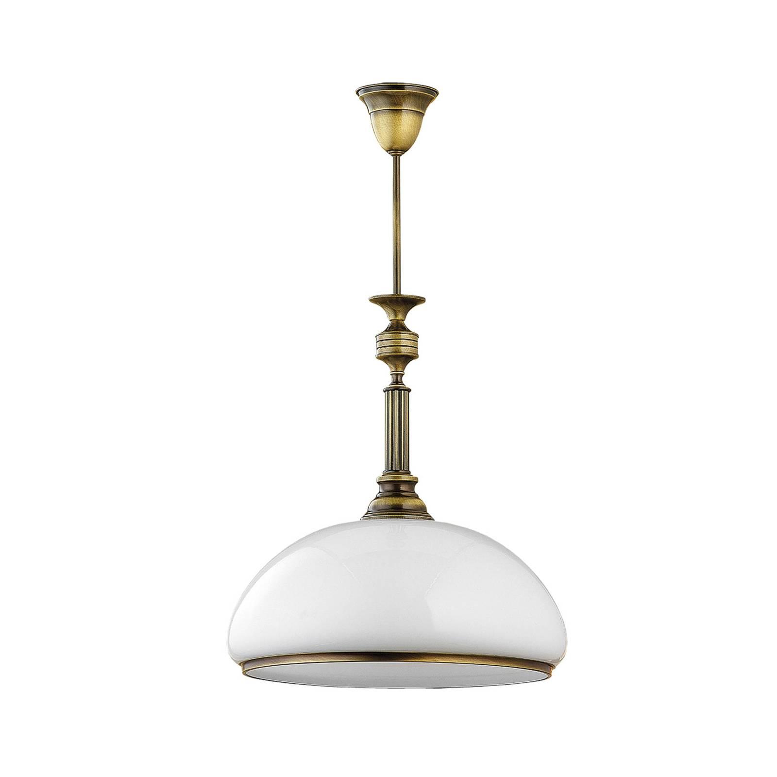 Suspension Petro avec abat-jour en verre à 1 lampe