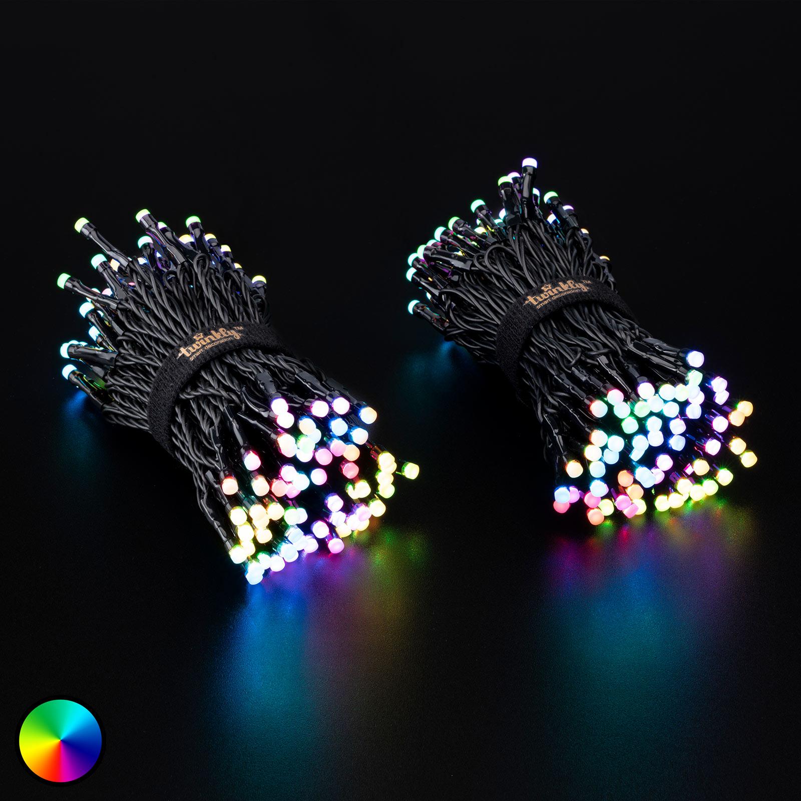 Lichterkette Twinkly RGBW, 250-fl. 20m schwarz