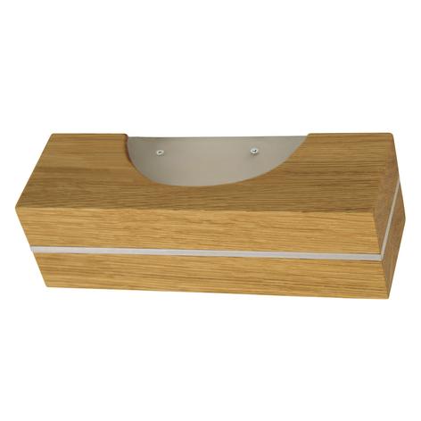 HerzBlut applique a LED Dana in legno oliato