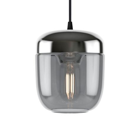 UMAGE Acorn lámpara colgante 1 luz gris humo acero