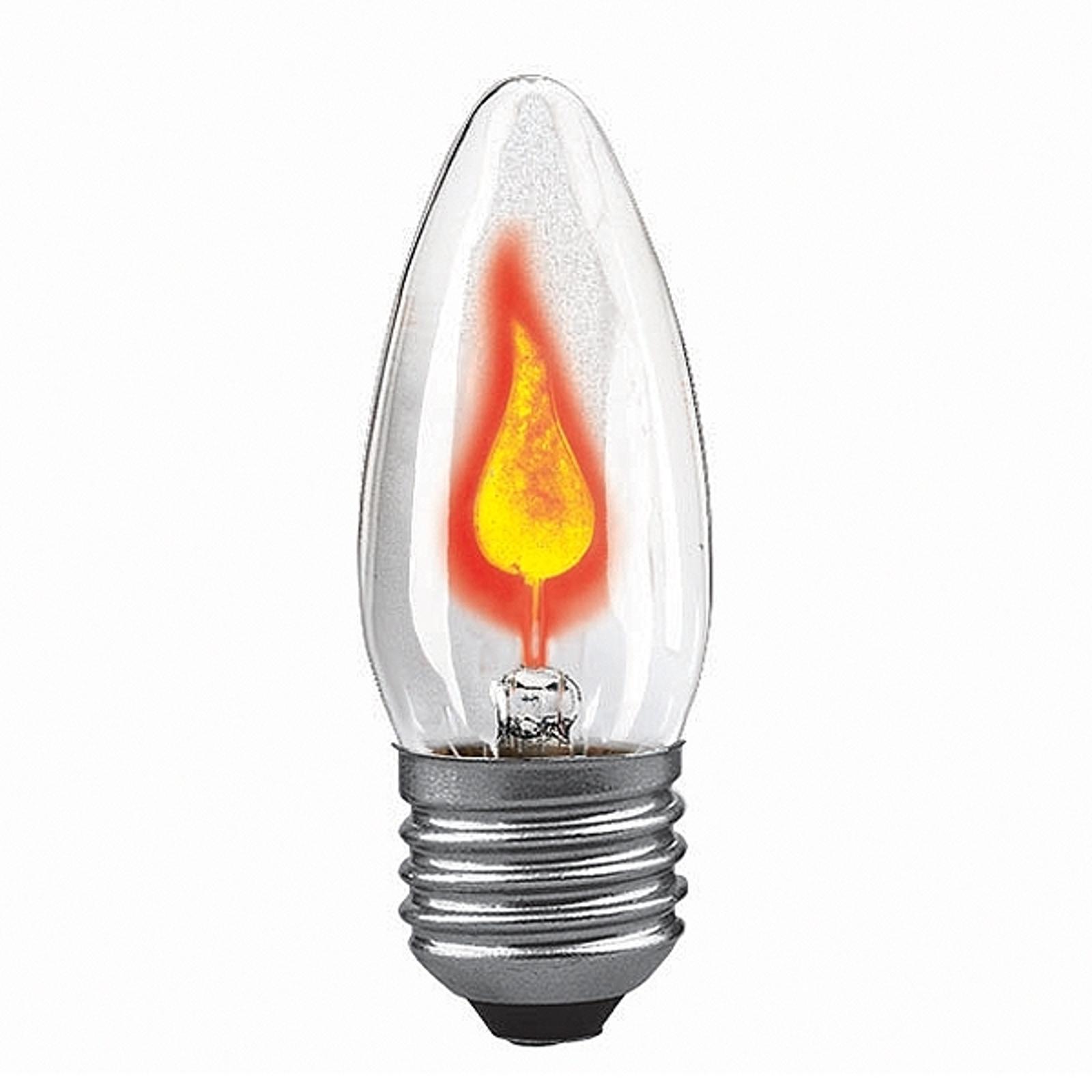E27 3W lampadina a fiammella trasparente