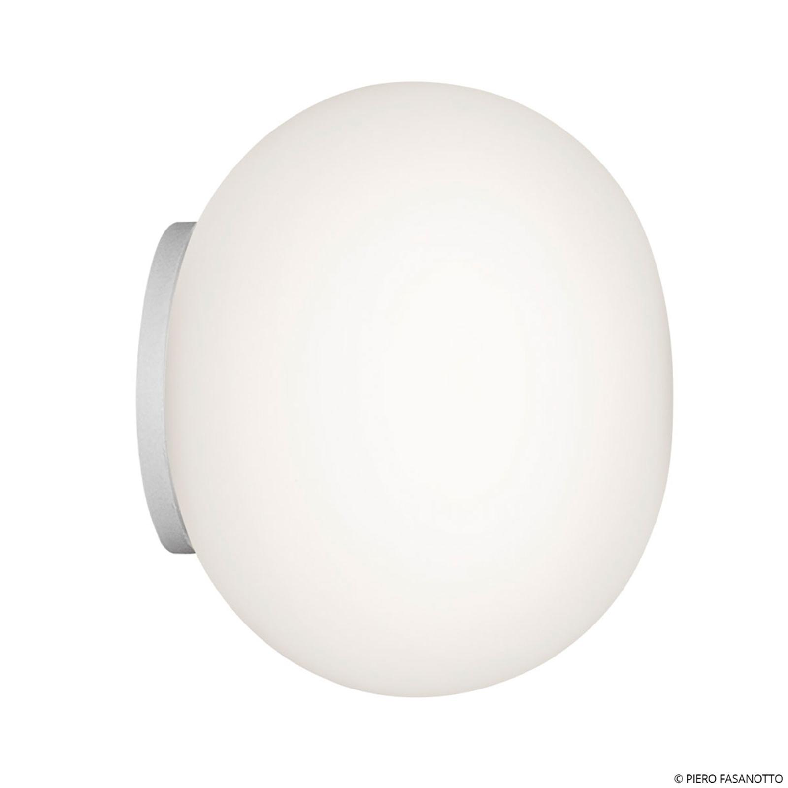 FLOS Mini Glo-Ball Mirror vägglampa, vit