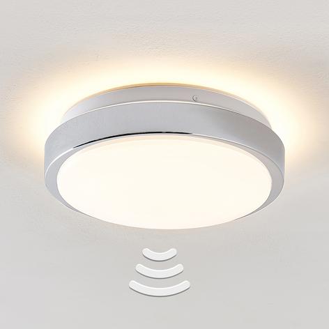 Lindby Camille LED stropní světlo, Ø26cm chrom