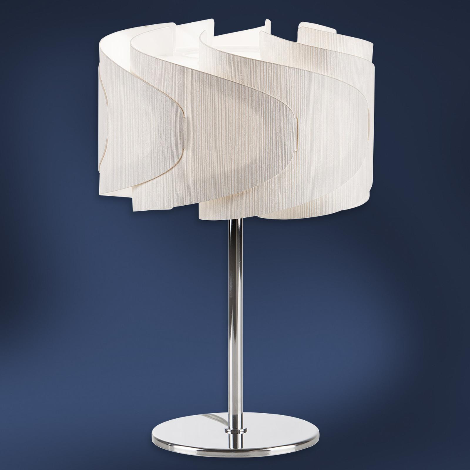 Lámpara de mesa Lumetto Ellix en aspecto de madera