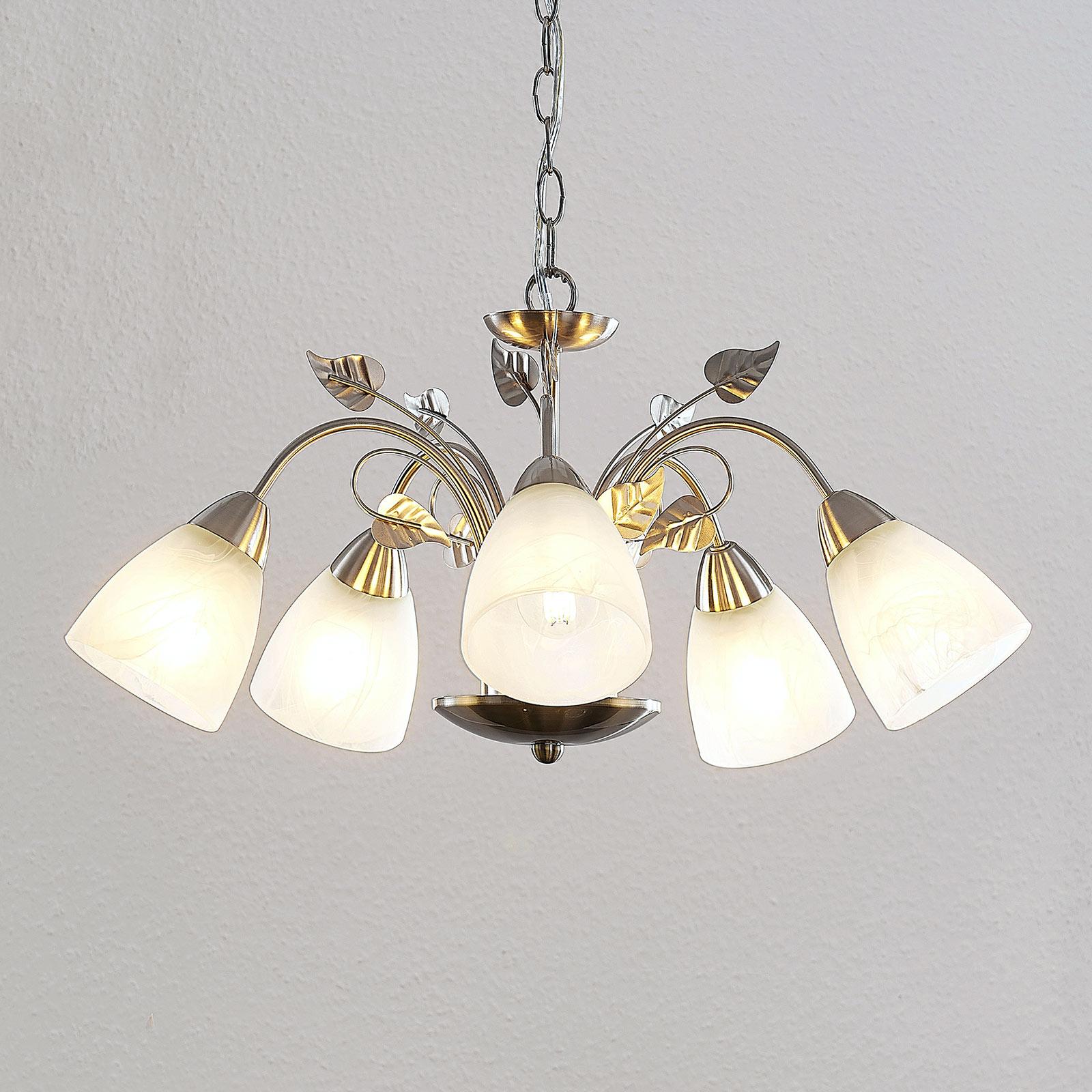 Lindby Yannie lampa wisząca LED, 5-punktowa