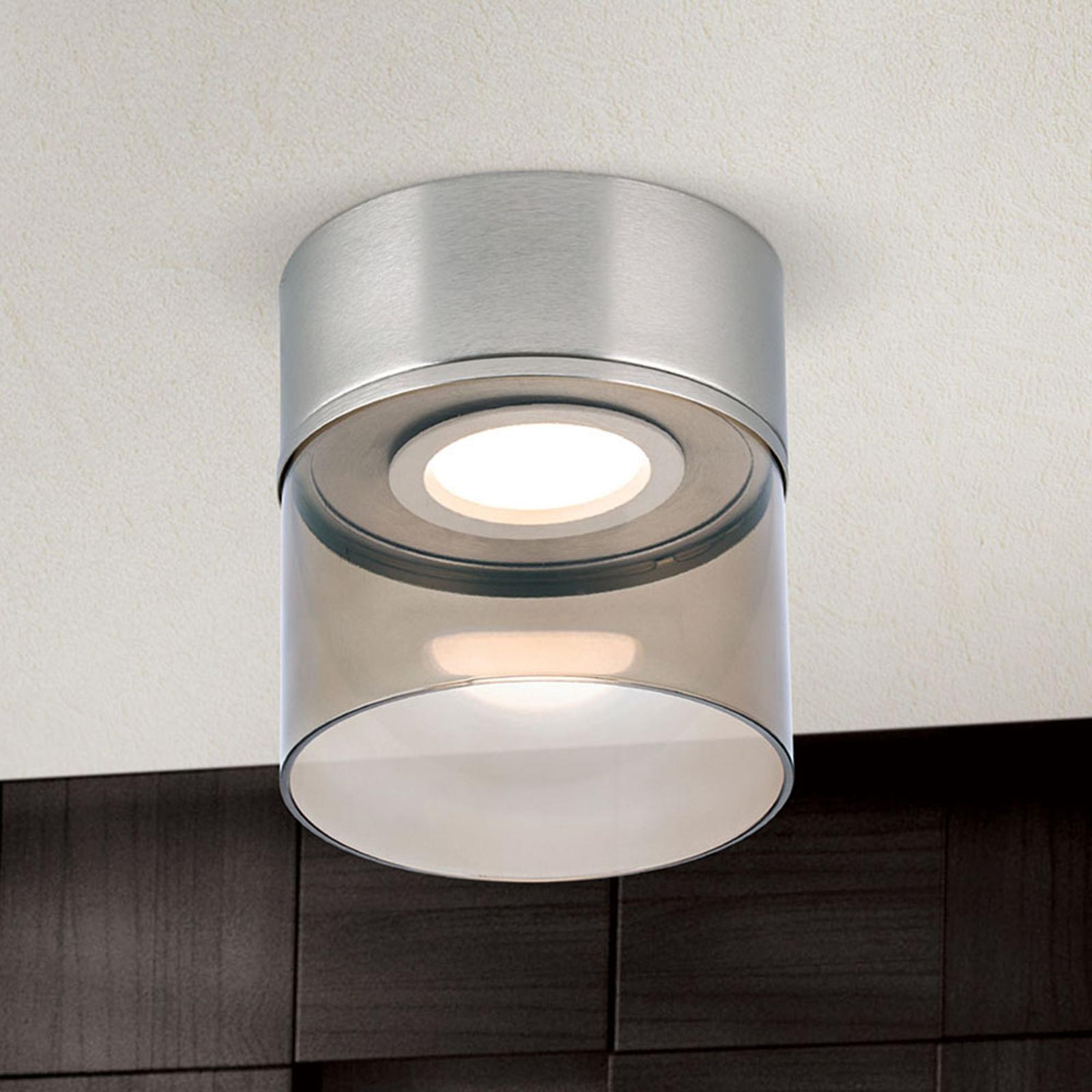 Plafonnier LED Francis nickel mat Ø 15cm