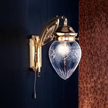 Pozłacana lampa ścienna Budapest