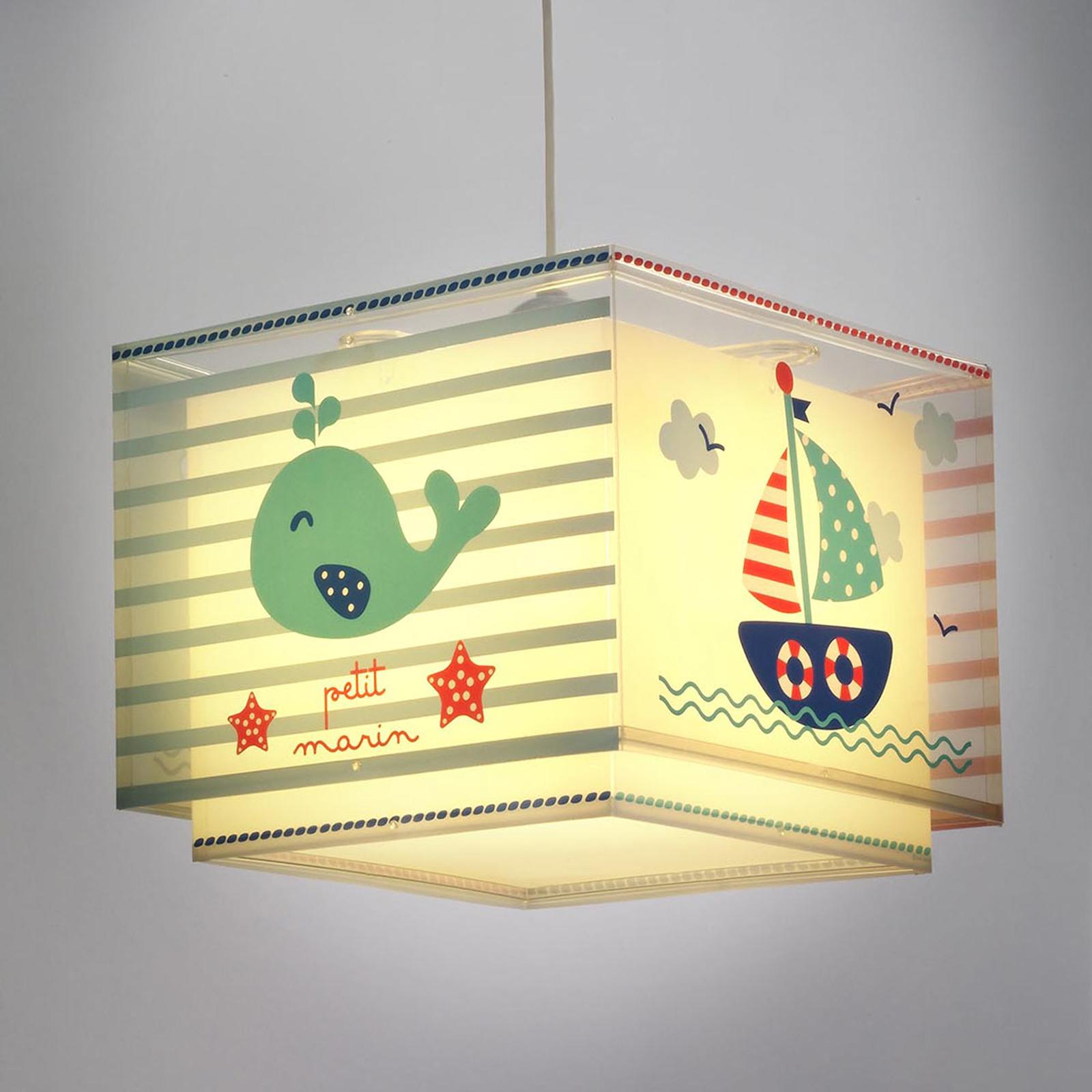 Marynistyczna dziecięca lampa wisząca Petit marin