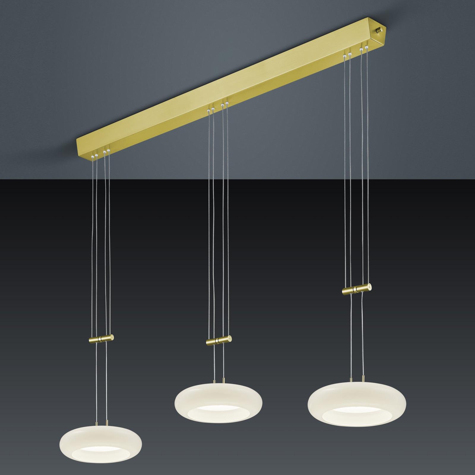 BANKAMP Centa suspension à 3 lampes laiton
