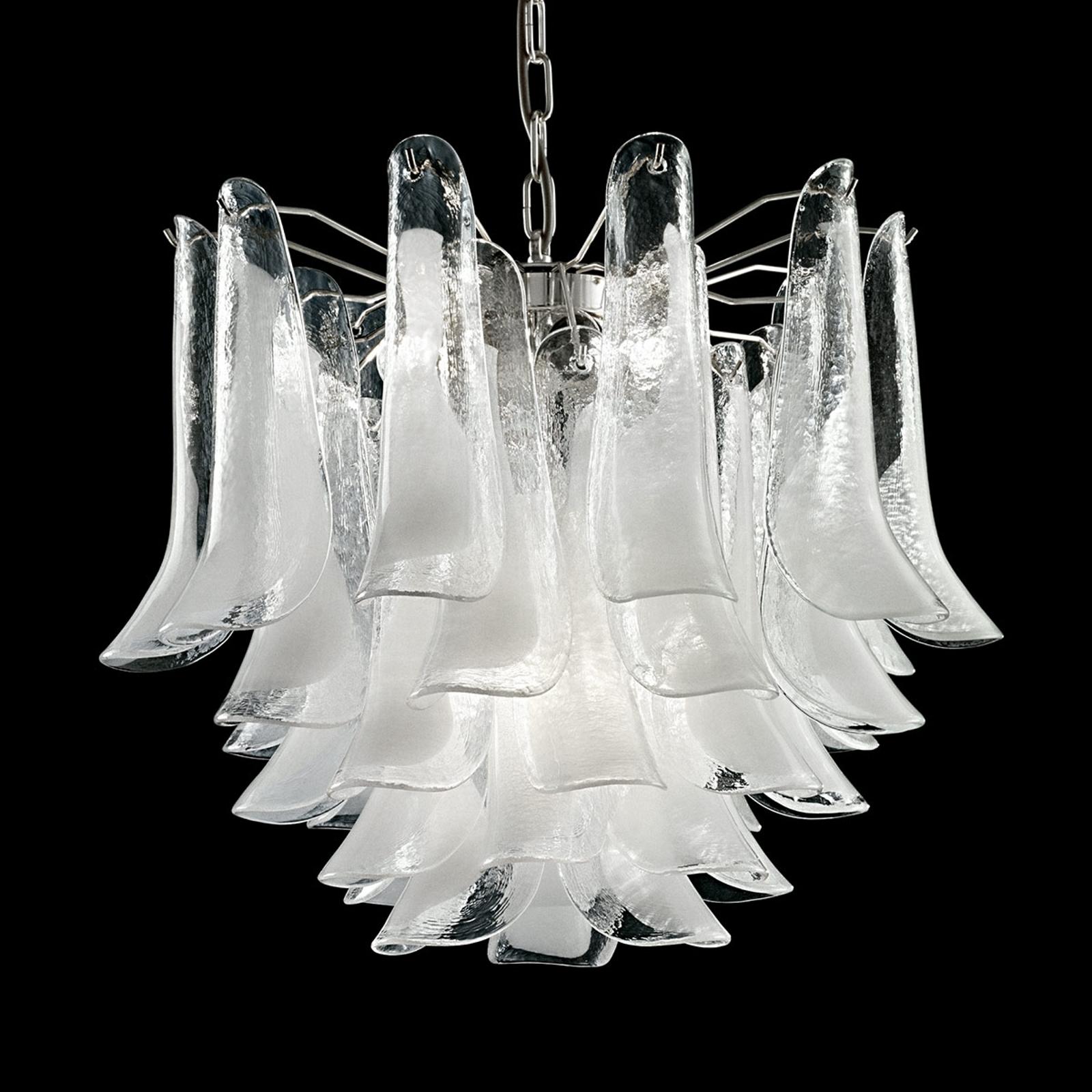 Lampa wisząca Tulipani ze szkła z Murano, 45 cm