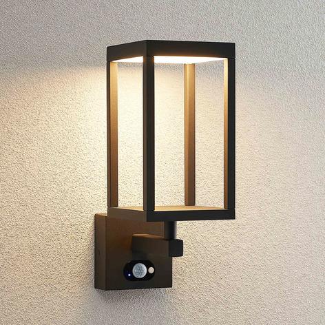 Lucande Qimka LED-Solar-Außenwandlampe mit Sensor
