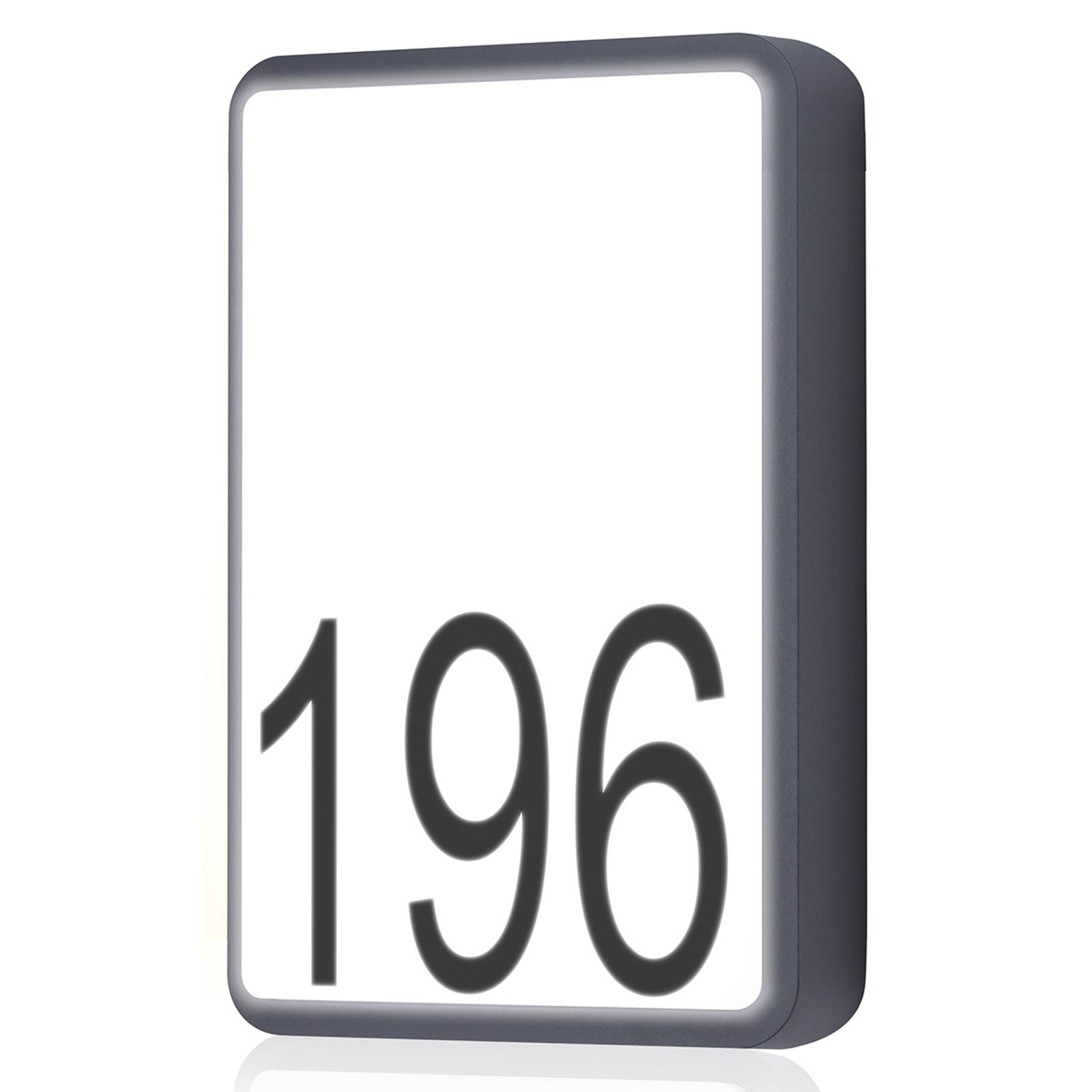 Numéro de maison LED Bjorn