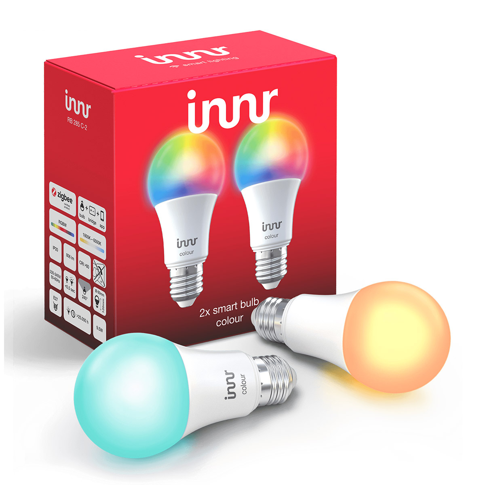 2 ampoules LED E27 9,5W Innr Smart Bulb Colour