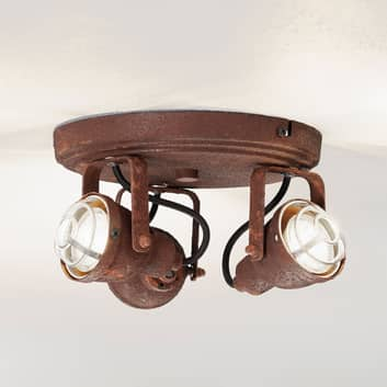 Taklampe Bente rust rund 3 lyskilder
