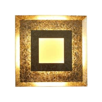 LED-vägglampa Window guld
