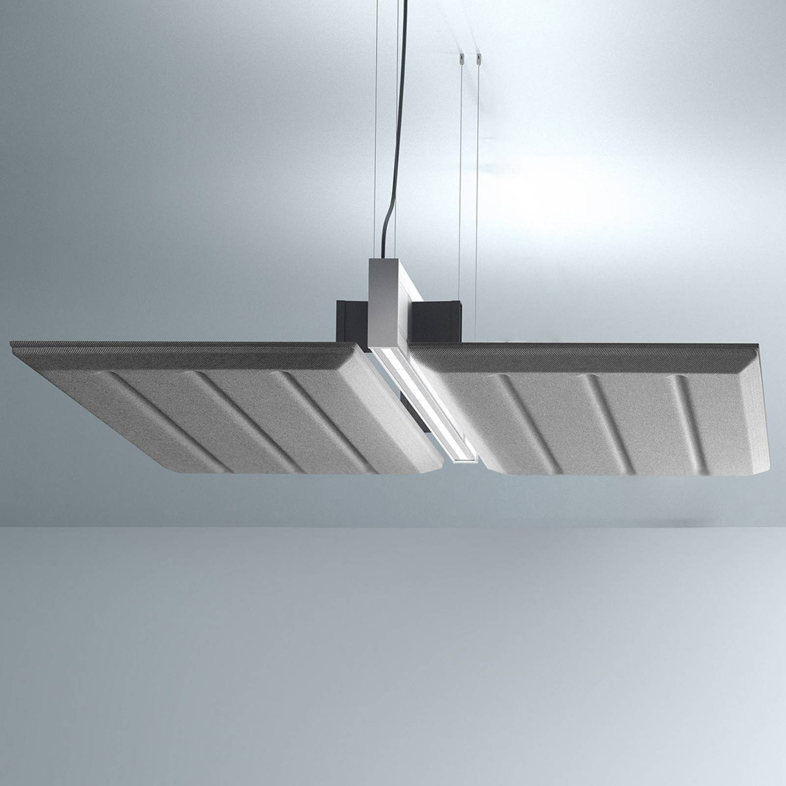 Luceplan Diade suspension horizontale 120cm noire