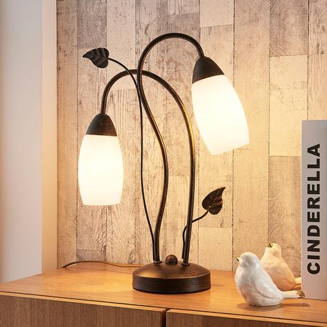Elegante lámpara de mesa LED Stefania