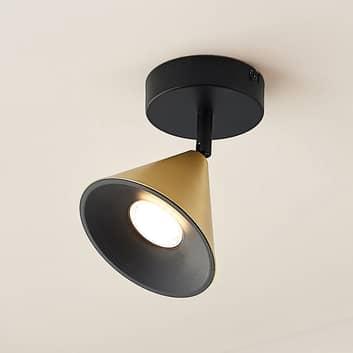 Lucande Kartio applique 1 luce inclinabile, ottone