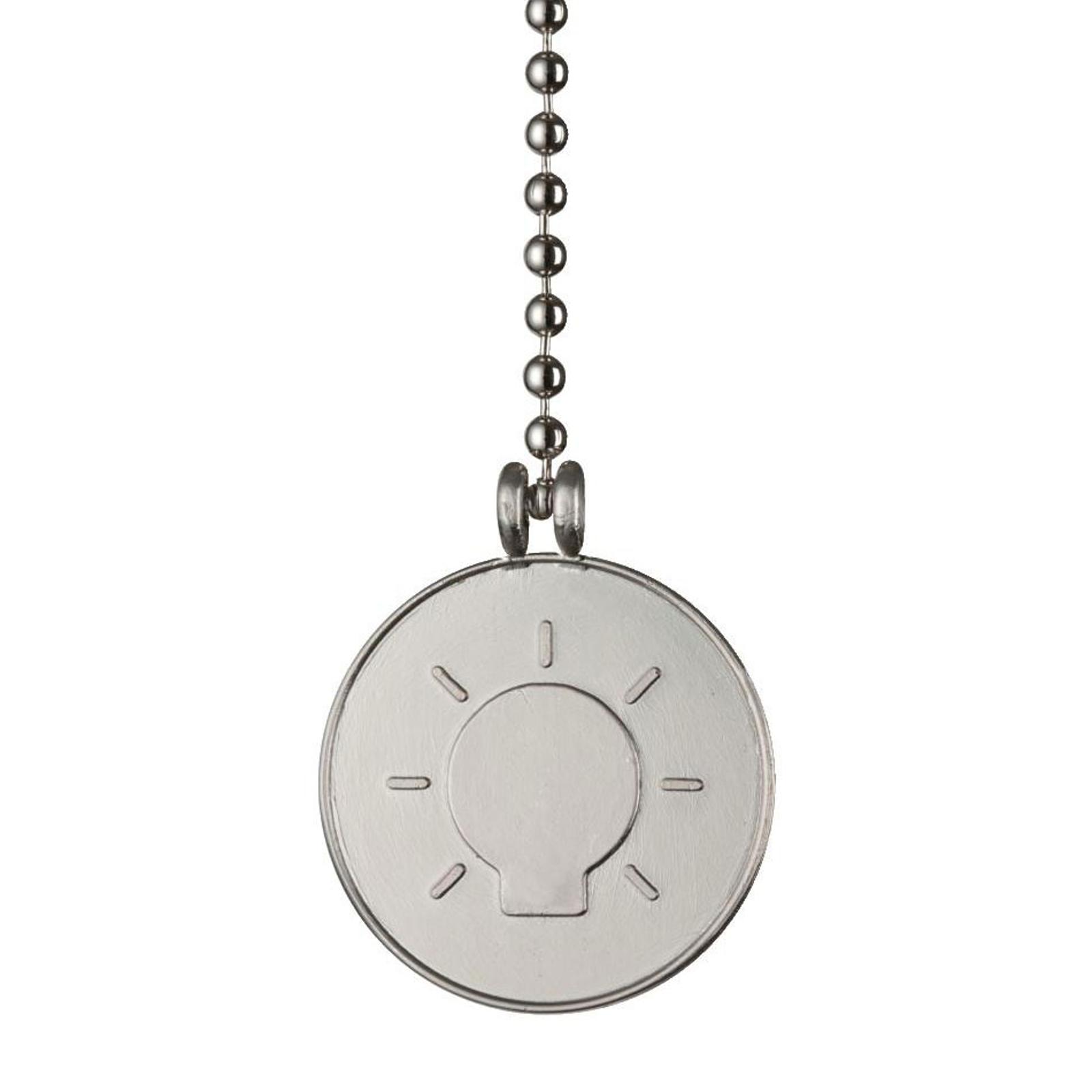 Westinghouse glødepære medaljon trækkæde nikkel