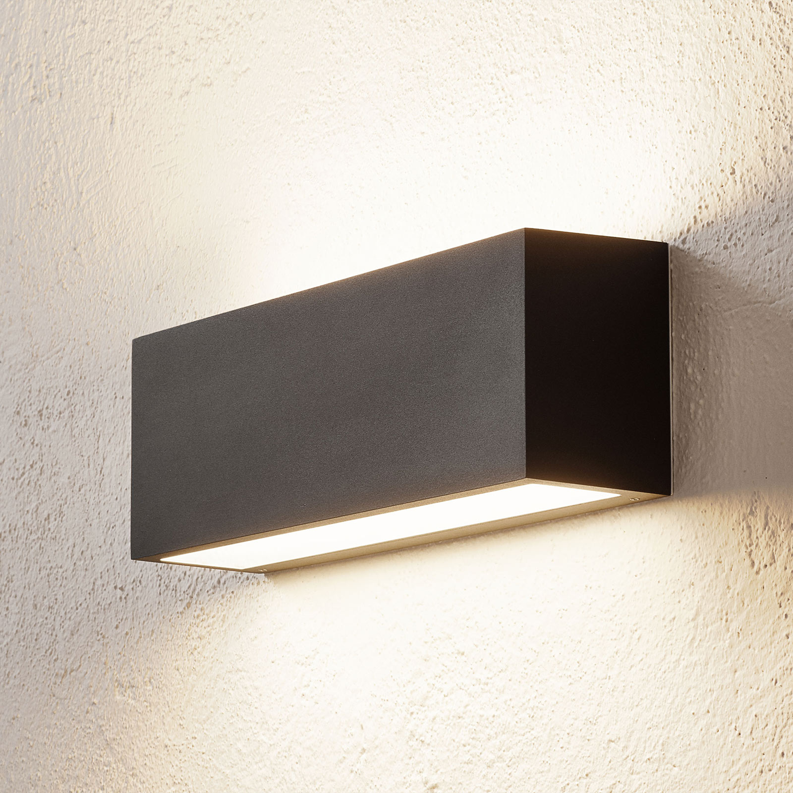 BEGA 50147 applique LED DALI, 32cm, noir velouté