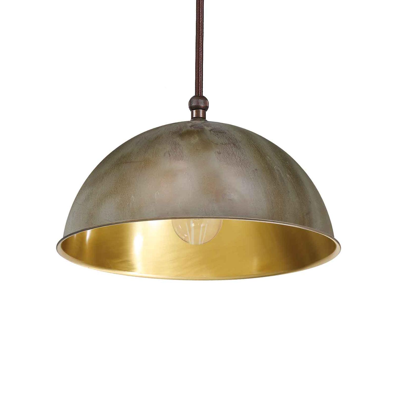Circle hengelampe, gull/antikk messing, Ø15cm