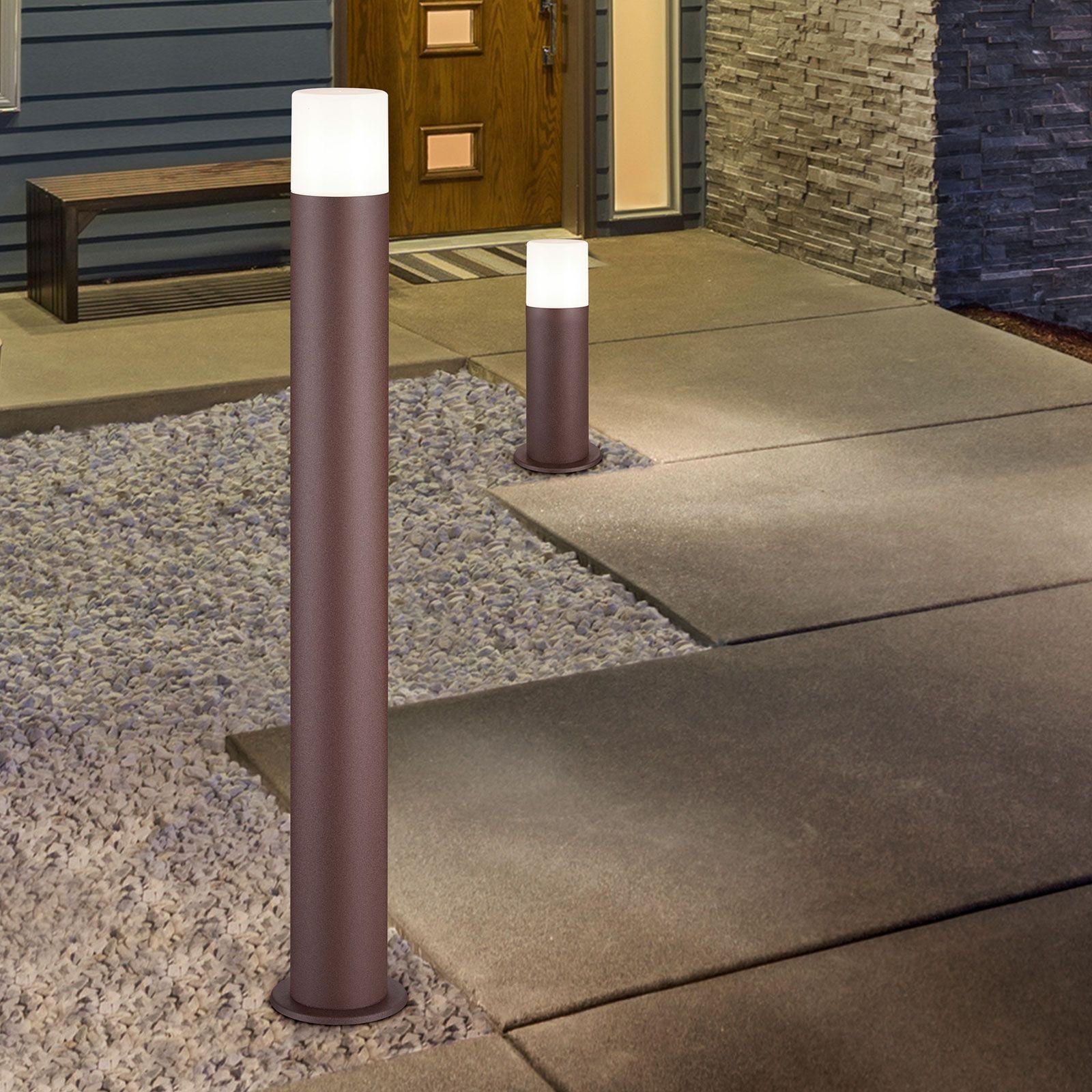 Hoosic gadelampe af trykstøbt aluminium rustfarvet