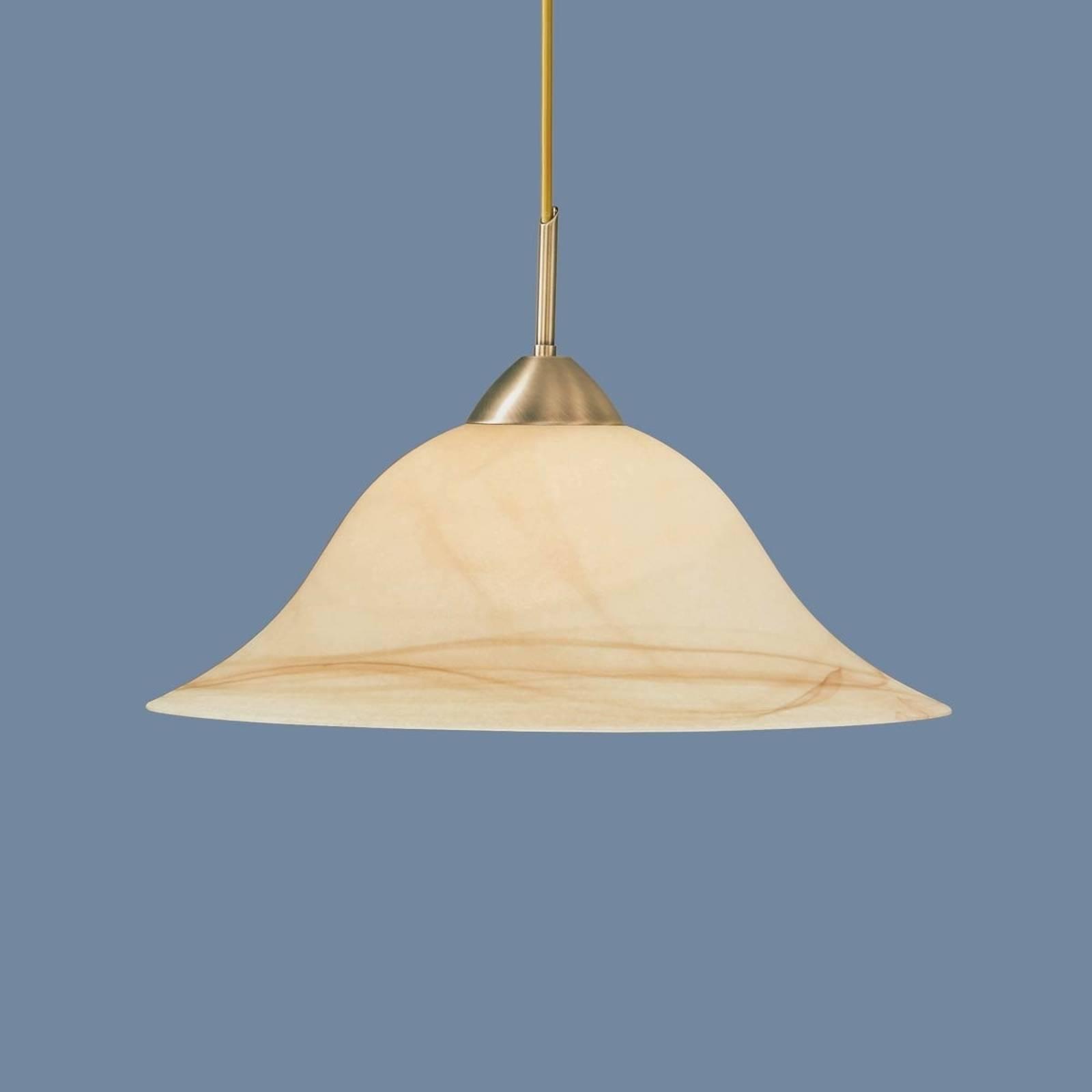 Warmkleurige hanglamp Luisa, oudmessing