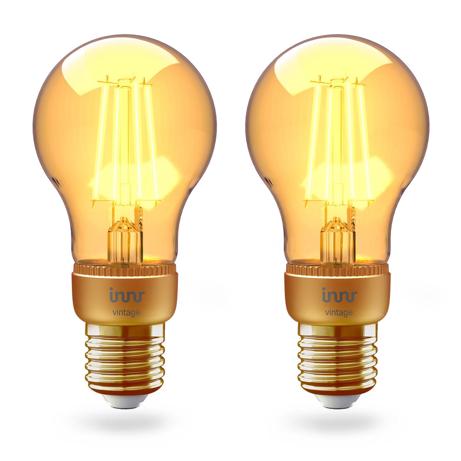 Innr LED E27 4,2W Smart Filament warmweiß gold 2er