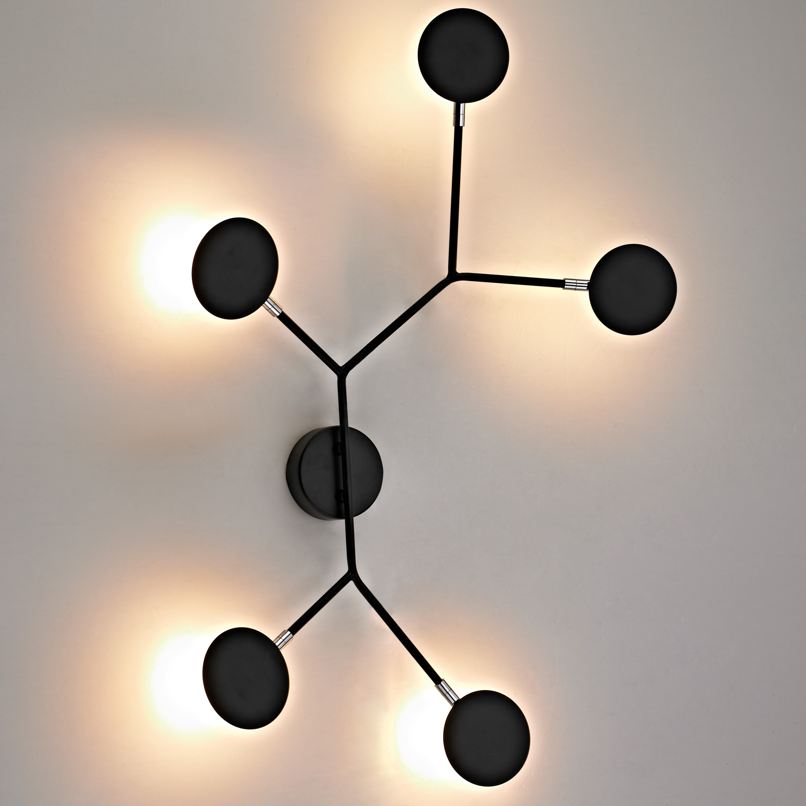 Applique LED Belize, à 5 lampes, noire