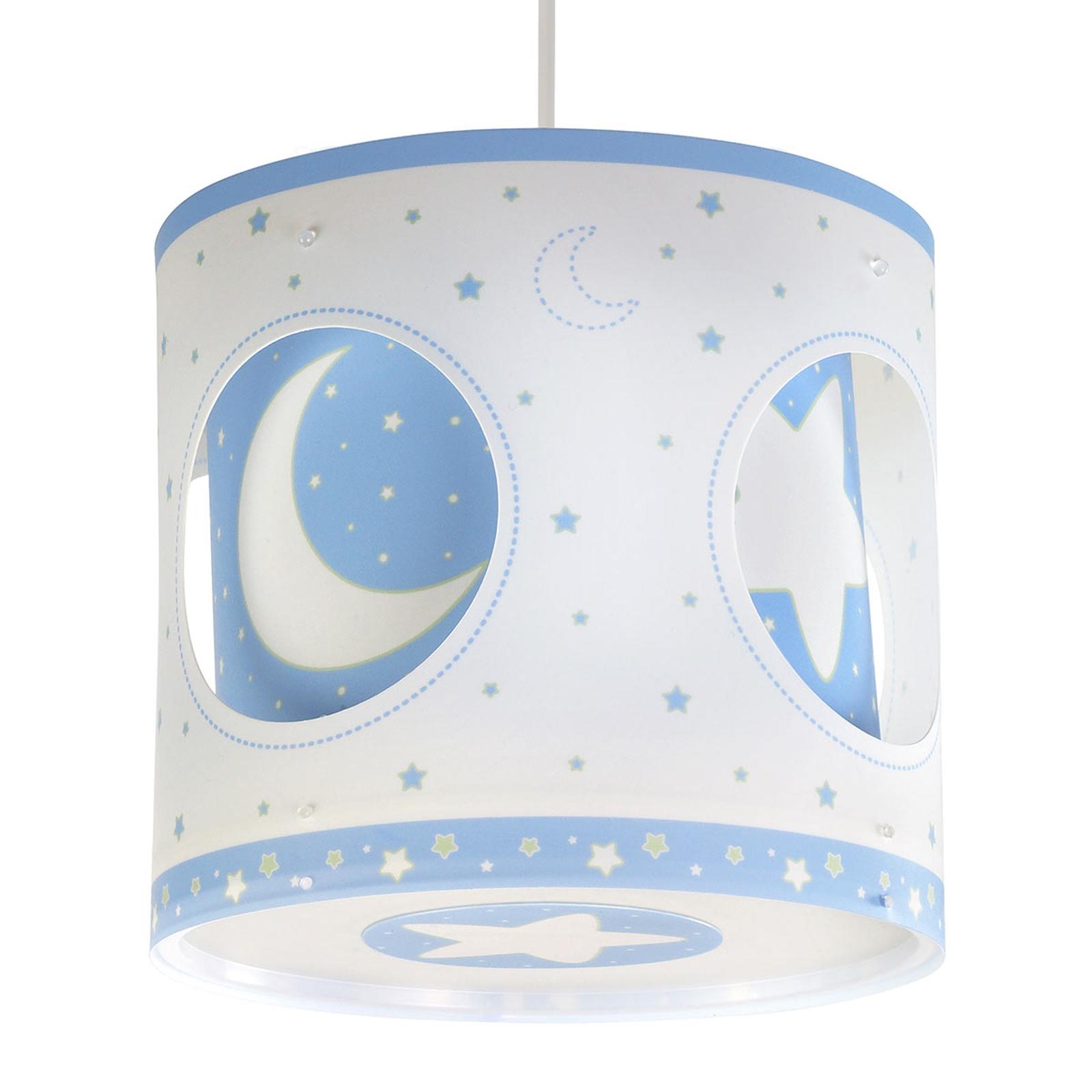 Hanglamp nachtelijke hemel, draaiend, blauw