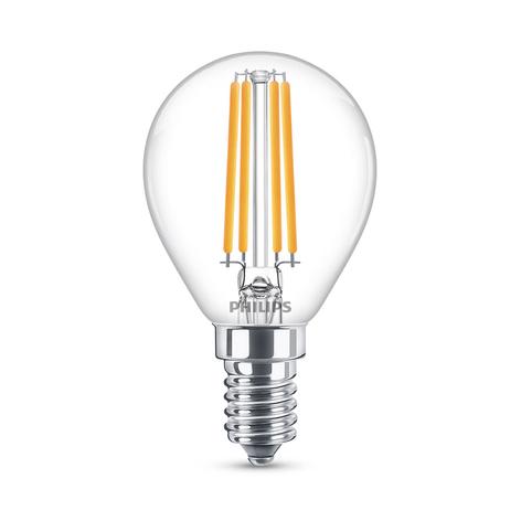 Philips Classic LED lamp E14 P45 6,5W 2700K helder