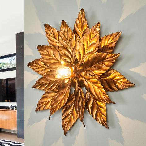 Lámpara de techo ANTIK con hojas de oro 40 cm