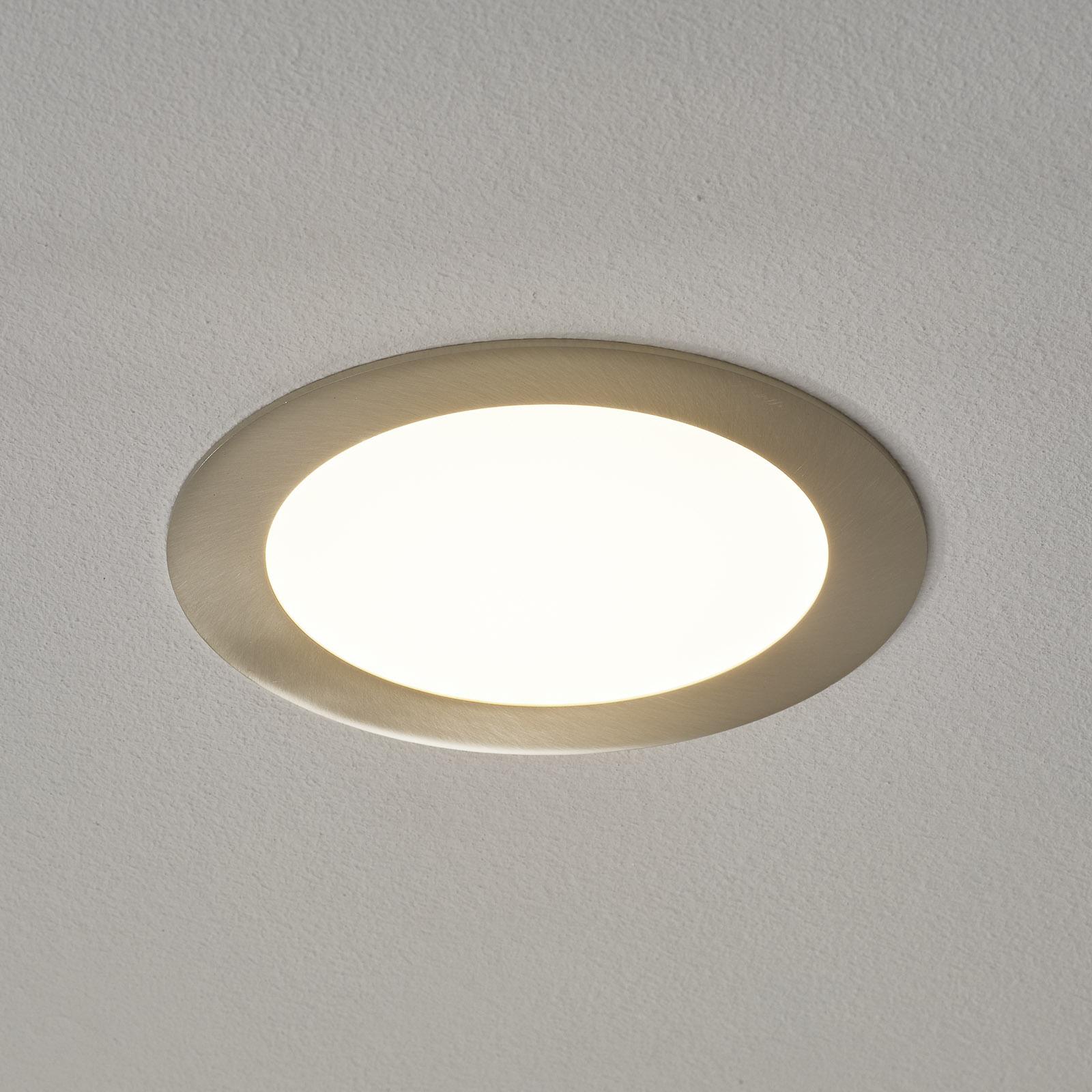 Fueva-Connect oprawa wpuszczana LED nikiel 17cm
