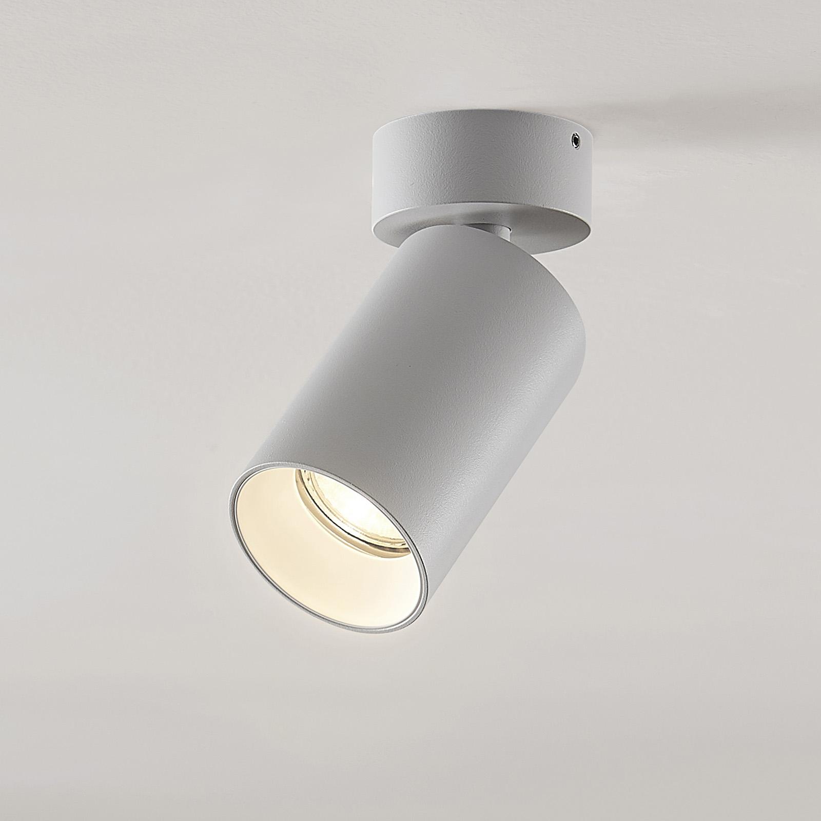 Arcchio Brinja spotlight, rund, vit, 1 lampa