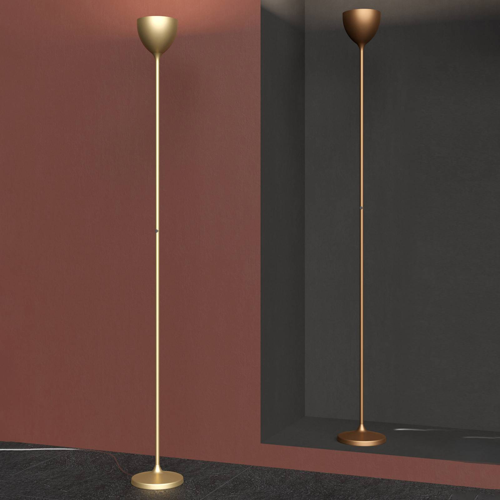 Rotaliana Drink LED-Stehleuchte, luxus gold