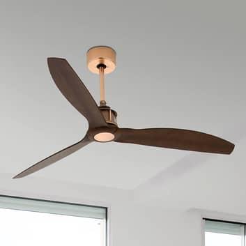 Ventilatore a soffitto Just Fan rame e noce