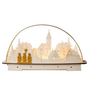 Arc lumineux LED Chanteurs de Noël, sur pile