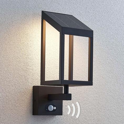 Lucande Timeo LED-Solar-Außenwandleuchte