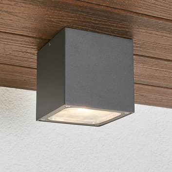 Plafón LED Tanea en forma cúbica, IP54