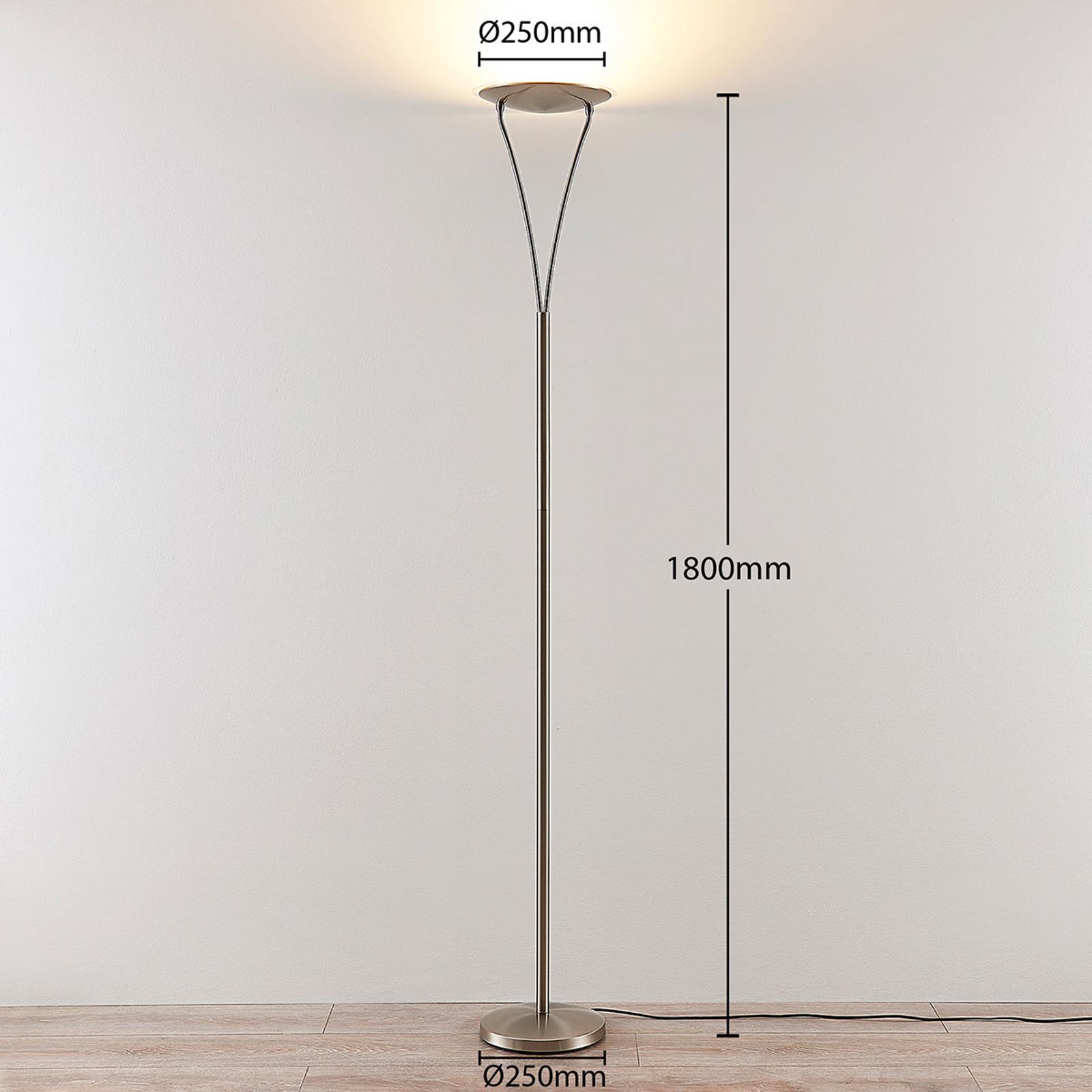 Praktischer LED Deckenfluter Elina mit Leselampe   Lampenwelt.at