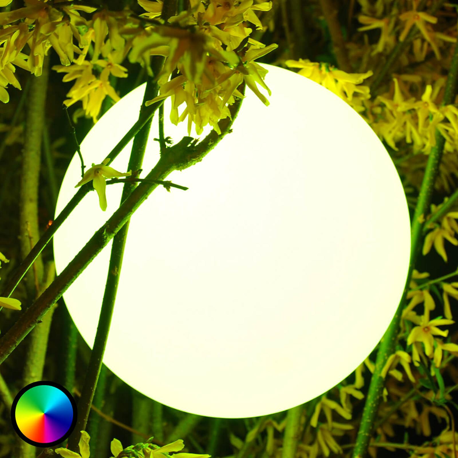 Pearl - kugleformet LED-lampe, styrbar via mobil