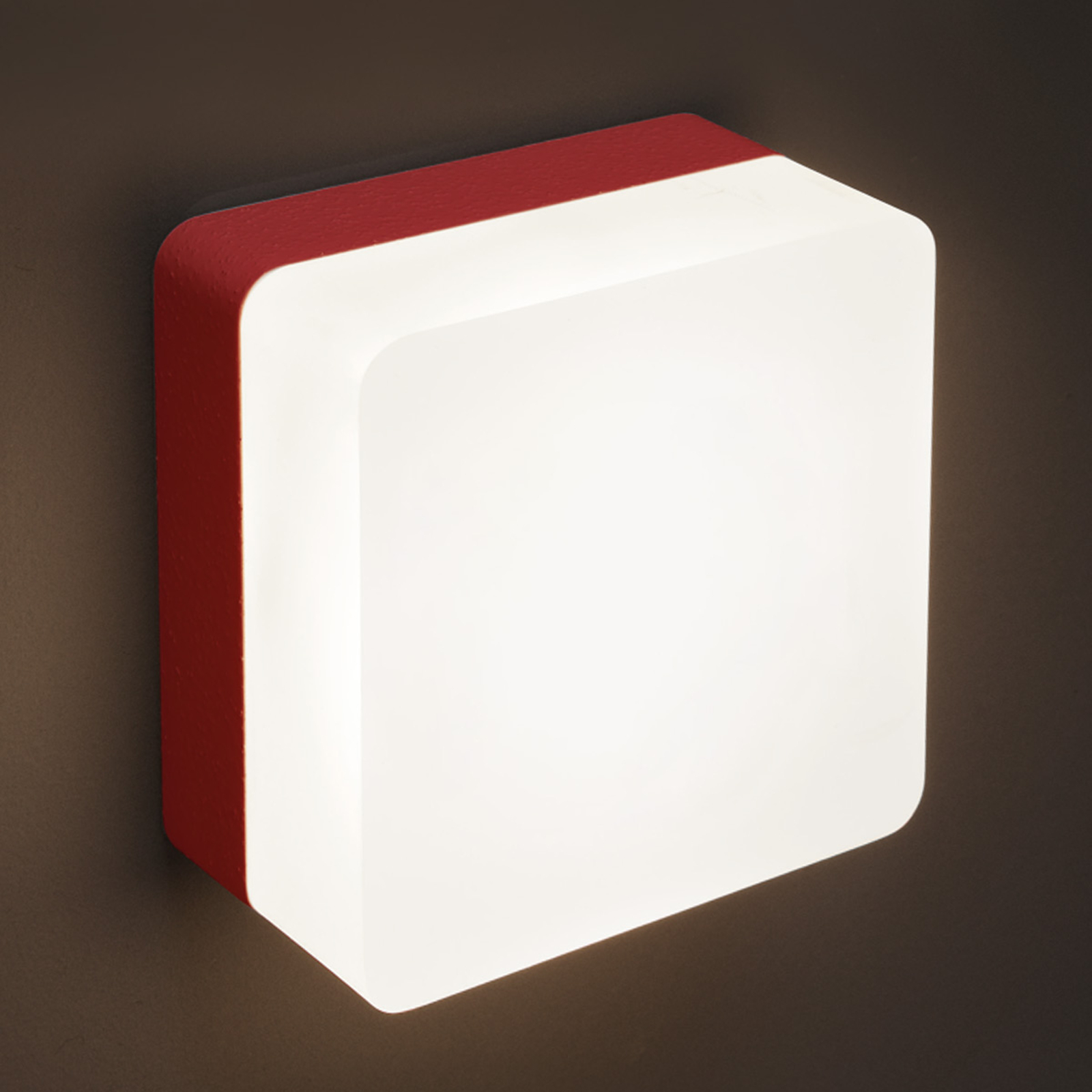 Applique LED Muffin, rouge