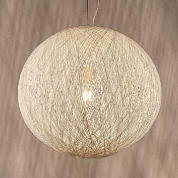 Lámpara colgante Julio, cuerdas de papel, blanco