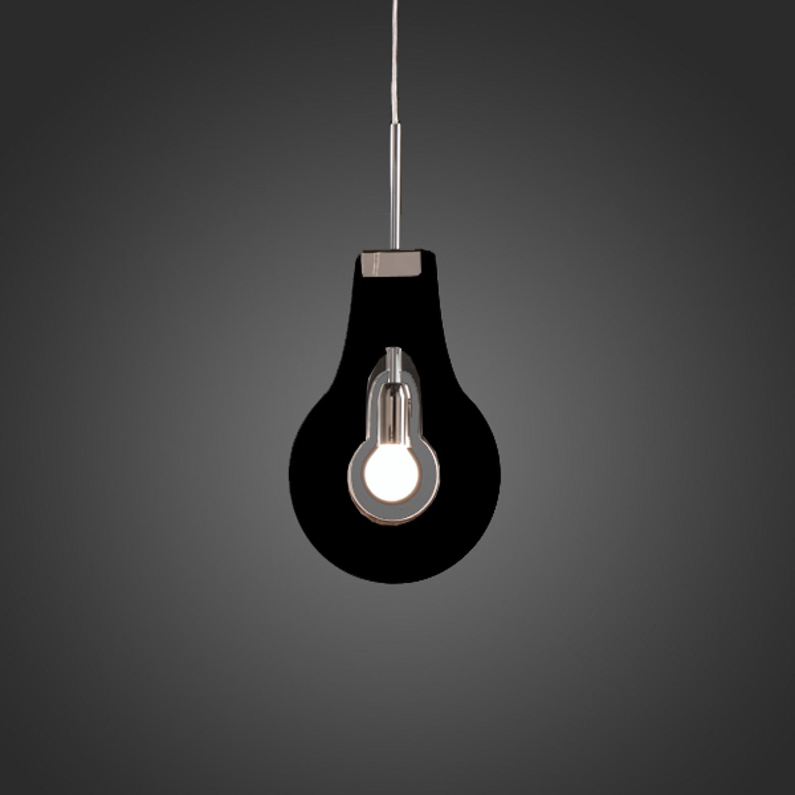 Bijzondere hanglamp Flat, zwart