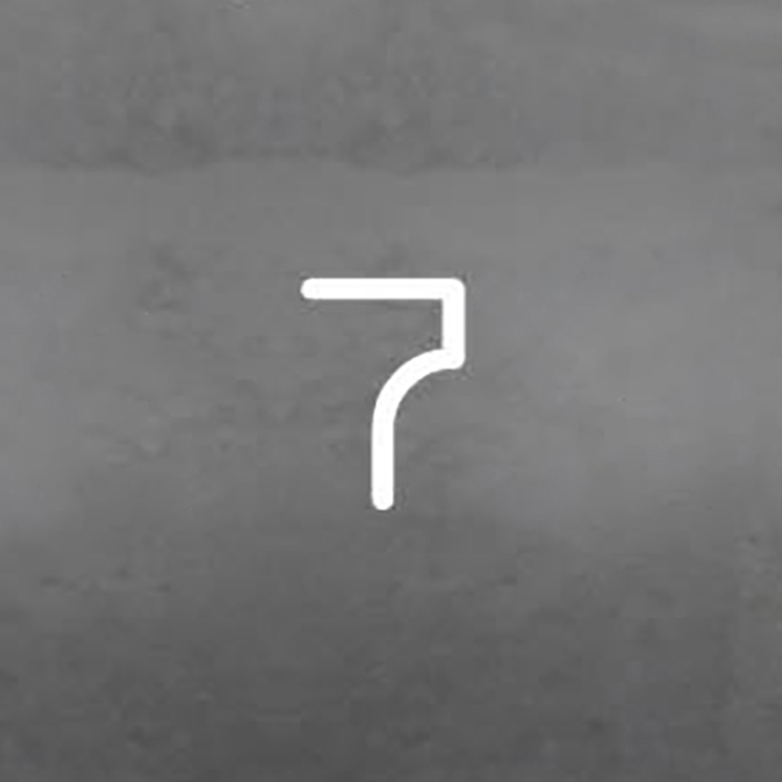 Artemide Alphabet of Light -seinävalo, numero 7