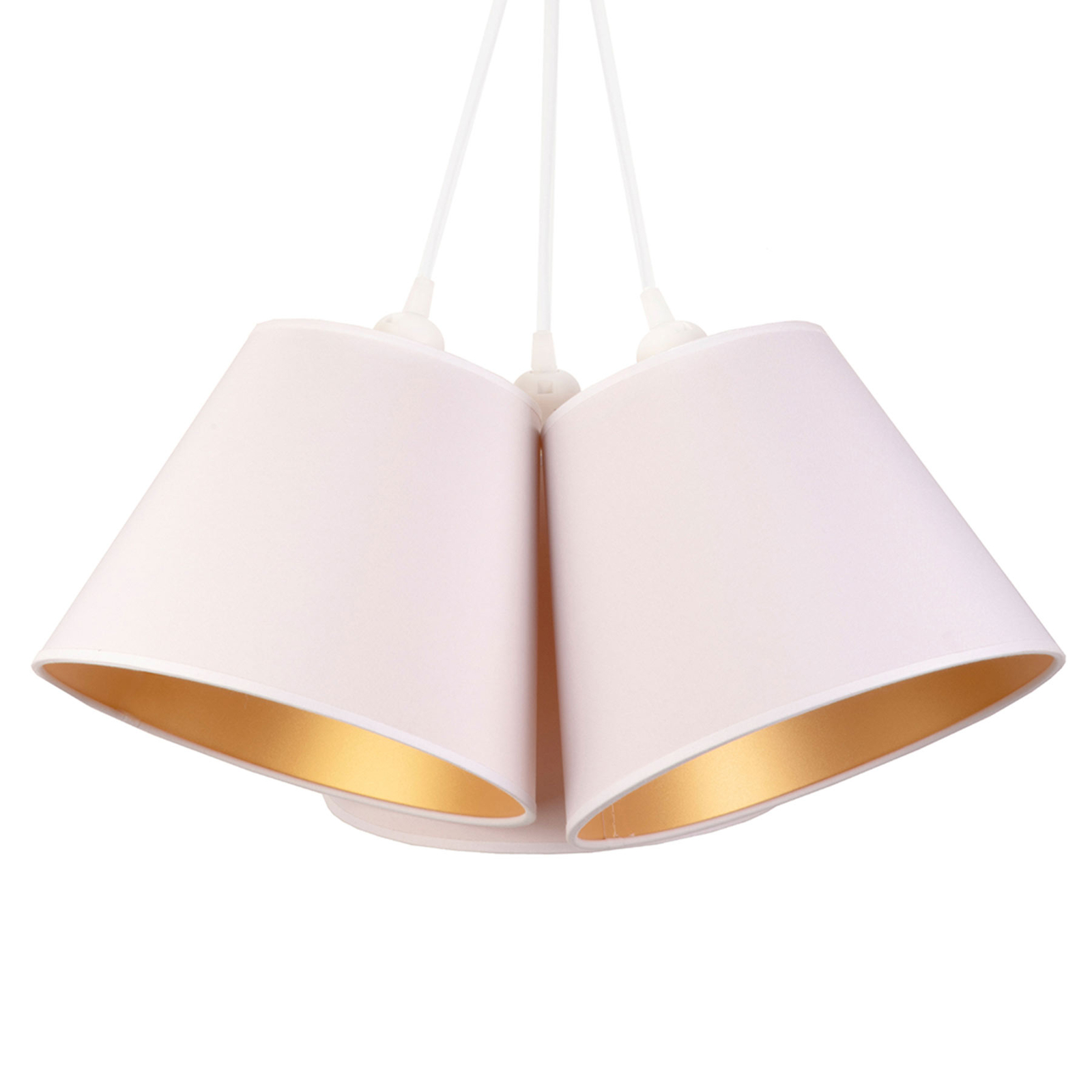 Hanglamp Twiggy, 3-lamps, wit