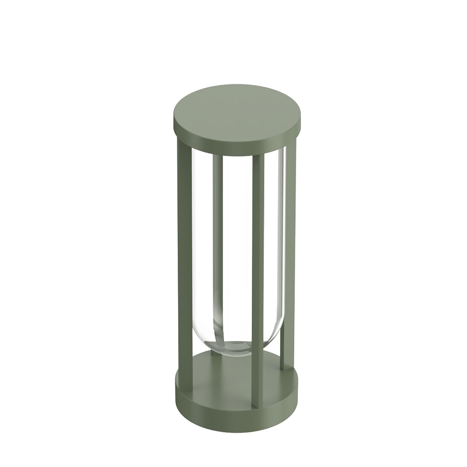 FLOS In Vitro Bollard 1, 2700K, 40 cm, ljusgrön